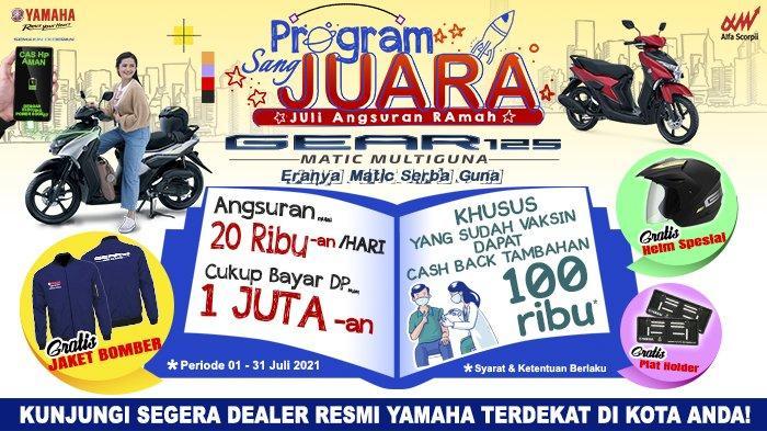 Dapatkan Sepeda Motor Yamaha Gear Hanya Dengan DP Rp 1 Jutaan
