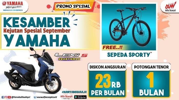 Promo Yamaha KESAMBER Untuk Pembelian Yamaha Lexi hingga 30 September 2020