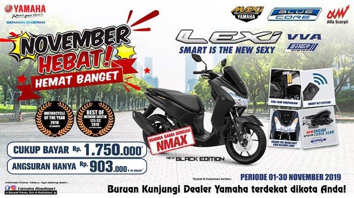 Promo Yamaha Lexi November di Riau, Angsuran Hanya Rp. 903.000