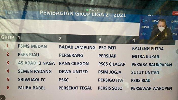 Sah Pembagian Grup Liga 2 2021, PSPS Riau dan KS Tiga Naga Bakal Saling Bunuh di Fase Grup