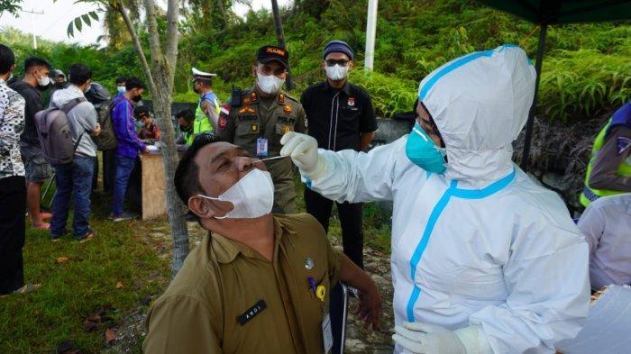 Rapid Test Antigen ASN Pelalawan yang dari Pekanbaru, Tim Yustisi Covid-19 Sekat 2 Lokasi Ini