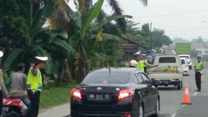 Polisi Beri Surat Tilang ke 150 Pelanggar,Didominasi Pengendara Sepeda Motor yang Enggan Pakai Helm
