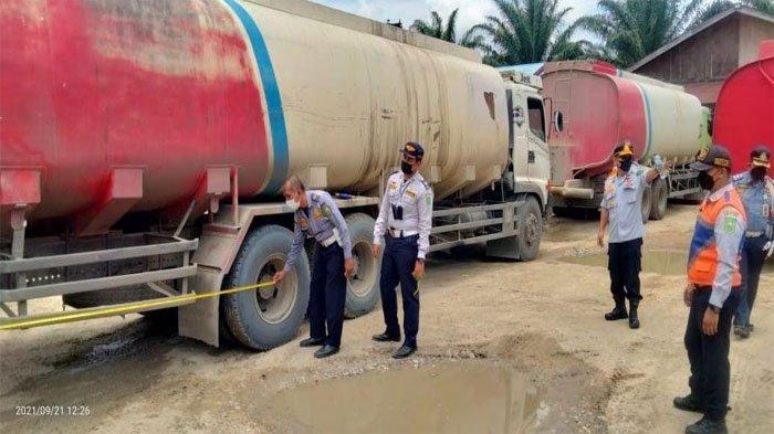 Ada Truk yang Panjangnya Capai 15 Meter, Puluhan Kendaraan Terjaring Operasi ODOL di Rohil
