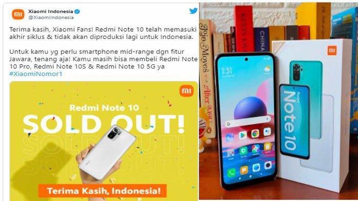 Redmi Note 10 Tak Lagi Dijual di Indonesia, Xiaomi Indonesia Umumkan Penyebabnya