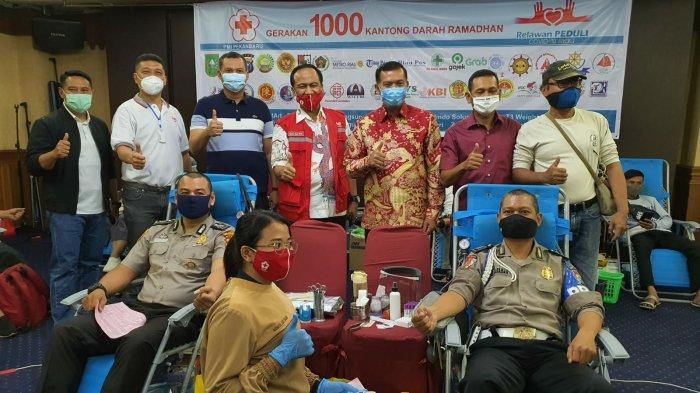 Hari Kedua Gerakan 1.000 Kantong Darah Ramadan, Relawan Peduli Covid-19 Riau Kumpulkan 493 kantong