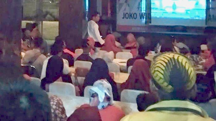 Relawan TKD Riau Padati Nobar Debat Capres di Pekanbaru