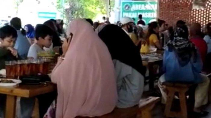Viral Video Emak-emak Makan di Restoran Ramai Tanpa Prokes di Padang, Kini Dicari Polisi