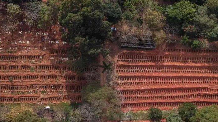 Ribuan Lubang Kuburan Disiapkan Untuk Korban Virus Corona di Brasil, Satu Kuburan Diisi 5 Peti Mati