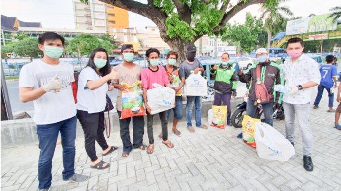 Sebanyak 250 Paket Sembako Disalurkan Kepada Pekerja Umum Terdampak Covid-19 di Pekanbaru