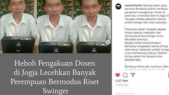 Riset Ala Pak Bambang, Perdaya 50 Wanita Jadi Korban Swinger, Fantasi Seksualnya Kini Terbongkar