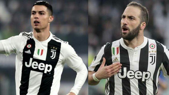 Maurizio Sarri bisa Duetkan Cristiano Ronaldo dengan Gonzalo Higuain, Lini Depan Juventus Dasyat