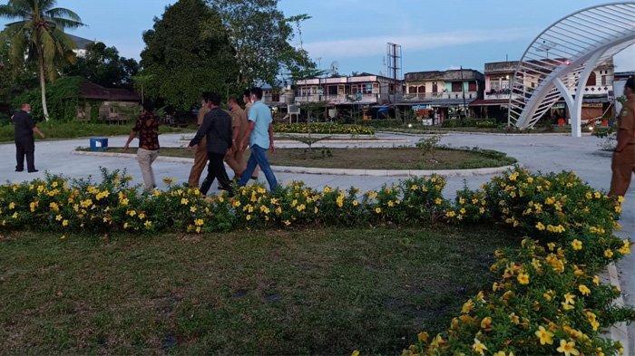 Ramai Dikunjungi Warga & Anak-anak, Lahan Bekas Kantor Camat Sungai Apit Jadi Hamparan Taman Indah