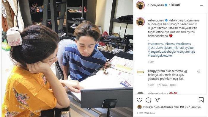 Unggahan Ruben Onsu di akun Instagramnya