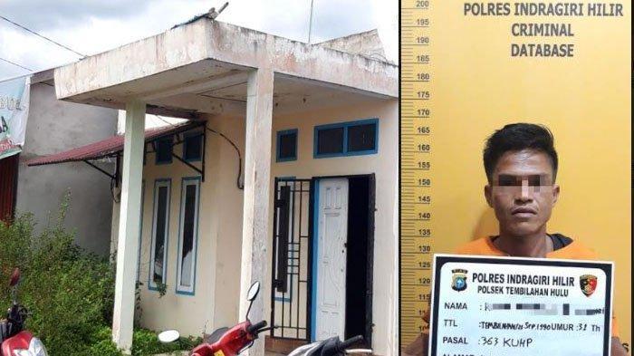 Daun Pintu Besi Rumah Warga Tembilahan Diembat Residivis, Korban Rugi Rp 10 Juta, Satu Pelaku Buron