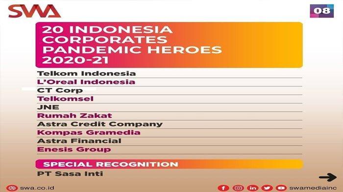 Rumah Zakat Raih Penghargaan 20 Indonesia Corporates Pandemic Heroes