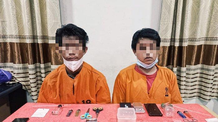 16 Paket Sabu Tergeletak di Atas Meja,Jalani Profesi Haram, 2 Pemuda di Inhil Harus Tidur di Penjara