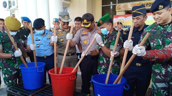 Polres Dumai Musnahkan 3 Kg Sabu Hasil Sitaan Bea Cukai