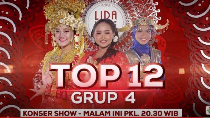 Saksikan LIDA 2021 Top 12 Grup 4 Konser Show Malam Ini