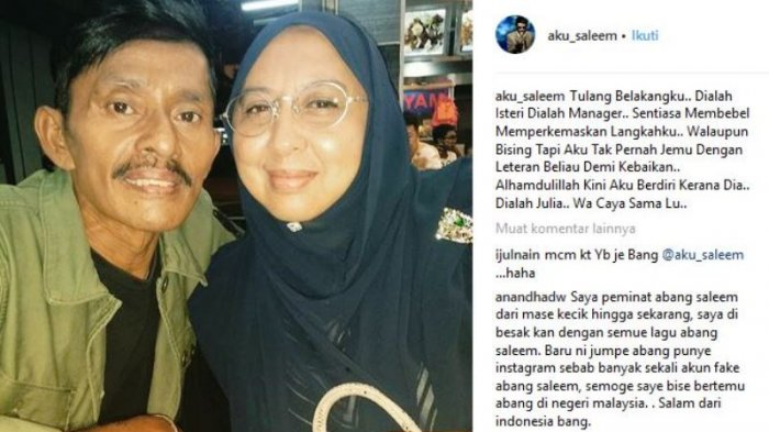 Saleem Iklim Dimakamkan di TPI Cheras Perdana. Ini Kenangan Terakhir Istrinya, ''Wa Caya Sama Lu''