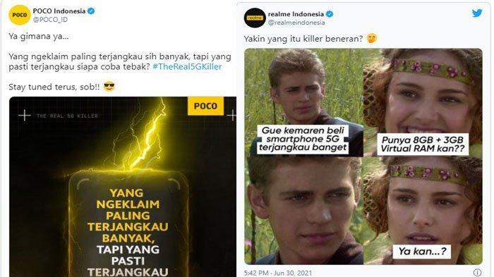 Waduh, 2 Ponsel 5G Paling Terjangkau di Tanah Air Ini Saling Sindir di Media Sosial