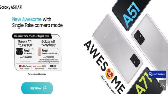 Samsung Galaxy A51 dan Galaxy A71 versi baru dengan warna khas haze crush silver