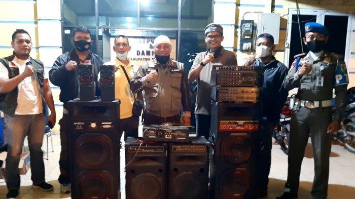 Putar Musik Keras hingga Tengah Malam,Satpol PP Pelalawan Tegas Sita Ini dari Kafe di Taman Kreatif