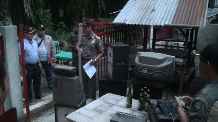 Satpol PP Rohul Tertibkan Warung Remang-Remang di Wilayah Bangun Purba