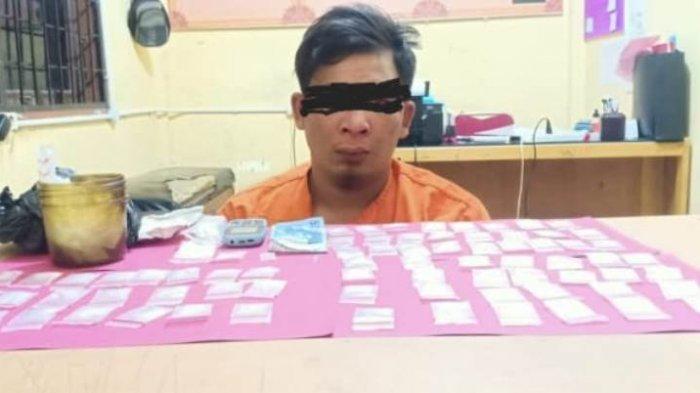 Satres Narkoba Polres Pelalawan Gulung Bandar Narkoba di Ukui, Sita 76 Paket Sabu-sabu Siap Edar