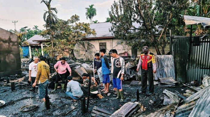 Tak Tertolong, Satu Keluarga Tewas Terbakar di Rumahnya di Gaung Anak Serka Inhil