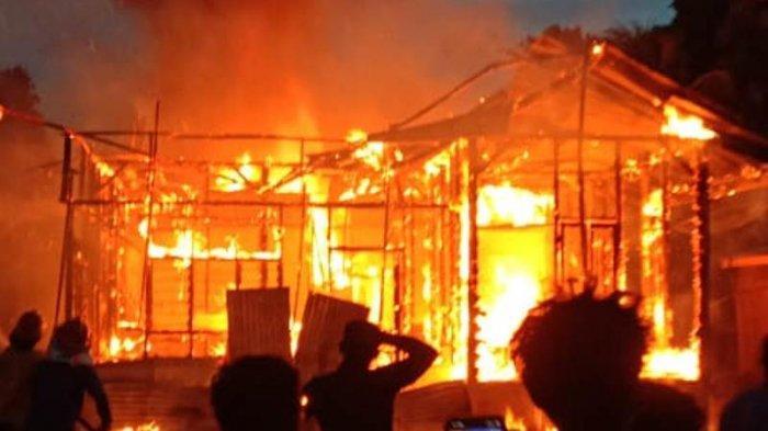 Satu Unit Rumah Terbakar di Pasir Sialang Kampar, Janda Dua Anak Alami Kerugian Sekitar Rp 150 Juta