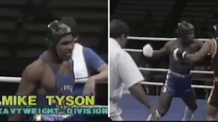 Sebuah rekaman saat Mike Tyson mengalahkan lawannya di Usia 15 tahun.