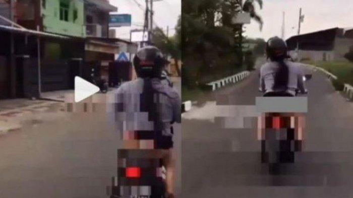 Aduh Mbak Ida, Kelakuanmu Pakai Celana Dalam Kendarai Sepeda Motor, Videonya Viral di Medsos