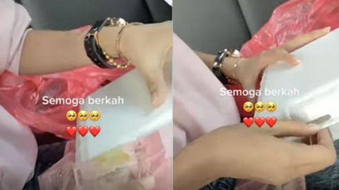 Sebuah video memperlihatkan aksi wanita membagikan nasi kotak di jalanan ini viral di media sosial. Jika biasanya di dalam nasi kotak itu terdapat tisu, wanita itu mengganti tisu dengan benda berharga.