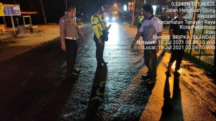 Security Mal di Pekanbaru Jadi Korban Tabrak Lari, Pengendara Brio Warna Putih Lagi Dicari Polisi
