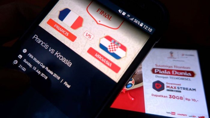 Selama Piala Dunia 2018 Aplikasi Telkomsel MAXstream Diunduh Lebih 4 Juta Kali Sebulan
