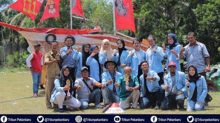 Semarak Karnaval Hari Kemerdekaan RI Bersama Mahasiswa Kukerta Universitas Riau