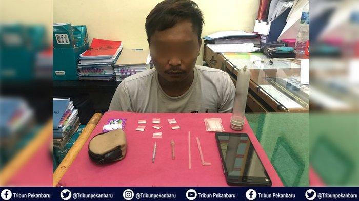 SEMPAT Buang 7 Paket Sabu-sabu Melalui Jendela, Pengedar Narkoba di Pelalawan Riau Ditangkap Polisi