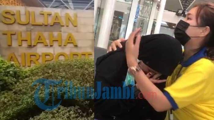 Seorang SPG Kalbe Farma sedang menenangkan gadis remaja berinisial IN yang nekat mau berangkat ke Jakarta demi pria teman mabar game FF