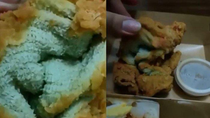 seorang wanita di Filipina Alique Perez, tertipu saat membeli ayam goreng dari restoran cepat saji, Selasa (1/6/2021). Bukan ayam goreng panas yang datang, melainkan handuk goreng tepung yang dibuat seolah persis seperti ayam goreng.