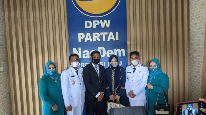 Resmi Jadi Anggota Surya Paloh,Afrizal Sintong dan Sulaiman Silaturahmi ke NasDem Riau Usai Dilantik