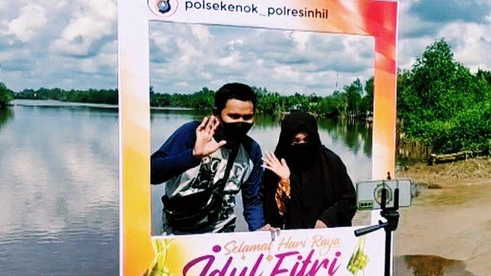 Tak Mudik?Jangan Panik!Manfaatkan Layanan Silaturahmi Virtual Polres Inhil di Kecamatan, Apaan Tuh?