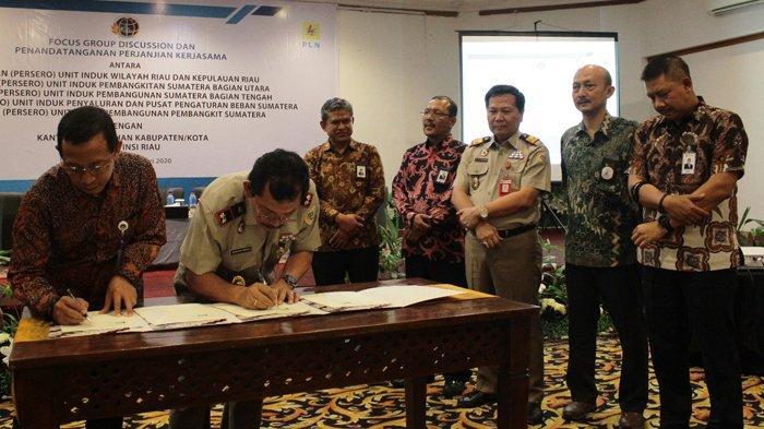 Sinergi PLN WRKR dengan Kanwil BPN Riau, Teken Perjanjian Kerja Sama Bidang Agraria dan Tata Ruang