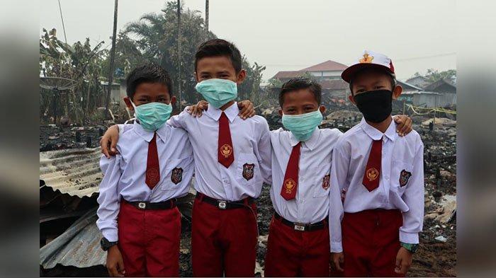 Belum Ada Keputusan Libur Sekolah di Pelalawan Riau, Para Orangtua Liburkan Anaknya Kuatir Kena ISPA