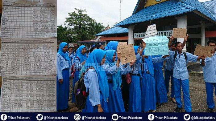 SISWA SMA N 3 Rambah Mogok Belajar dan Aksi Demonstrasi, Guru: Kepala Sekolah Ancam Guru Honorer