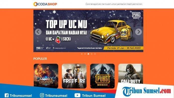 Link Top Up UC PUBG Mobile, Top Up Diamond Mobile Legends Hingga Top Up Free Fire Murah