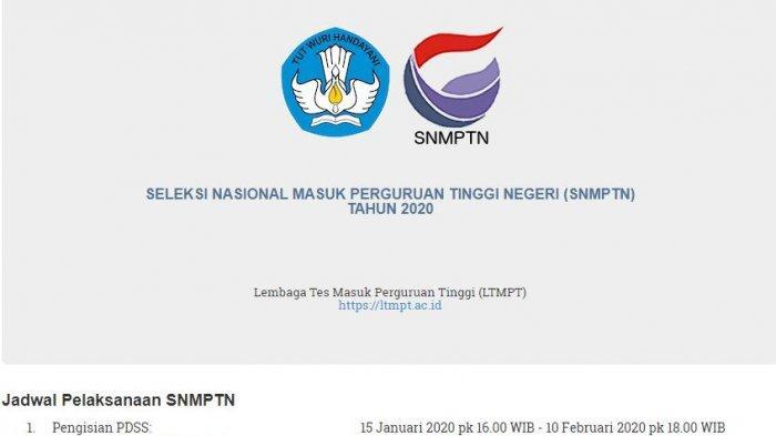 Daftar 86 Perguruan Tinggi Negeri Beserta Link Pendaftaran SNMPTN 2020