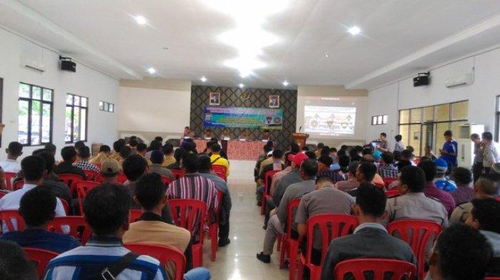 Polres Bengkalis Gelar Sosialisasi UU Nomor 45 tahun 2009  pada Nelayan