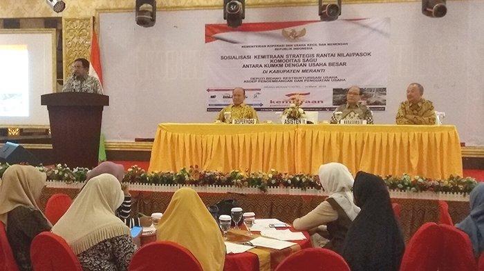 Tingkatkan Pemasaran Sagu, KUKM di Meranti Riau Diharapkan Bermitra dengan Usaha Menengah dan Besar