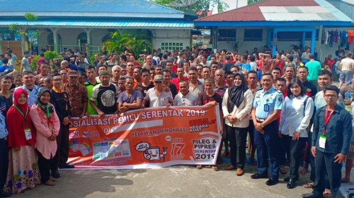 Warga Binaan di Lapas Bengkalis Antusias Bertanya tentang Pemilu pada Sosialisasi yang Digelar KPU
