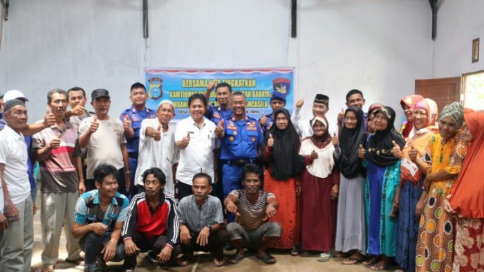 Aktifitas Tinggi, Polres Inhil Sosialisasi Kamtibnas Perairan di Desa Tanjung Baru